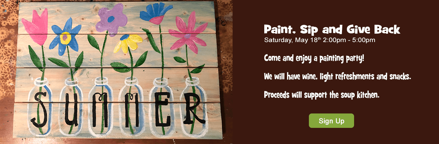 Paint Sip and Give Back Fundraiser for Soup Kitchen